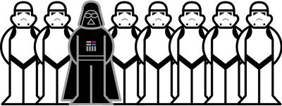 Darth Vader and Troopers